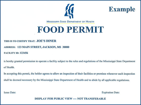 Mississippi Department Of Health Food Permits